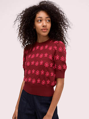 Kate Spade Marker Floral Sweater, Rhubarb Jam - Size S