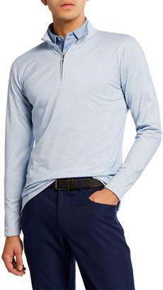 Peter Millar Men's Charlton Silk Quarter Zip Sweater