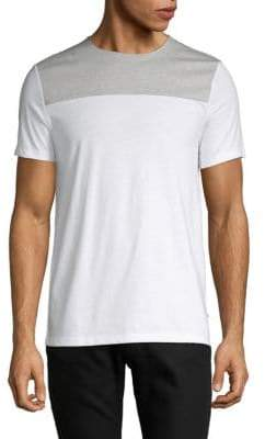 Calvin Klein Short-Sleeve Colorblock Cotton Tee