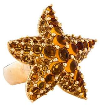 Pomellato 18K Citrine Starfish Sirene Cocktail Ring