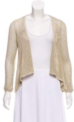 Minnie Rose Open Knit Tie-Front Cardigan