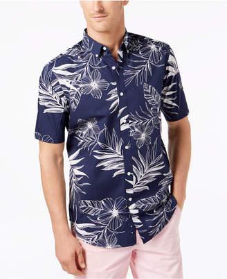 Club Room Men's Floral-Print Poplin Shirt, Created for Macy's