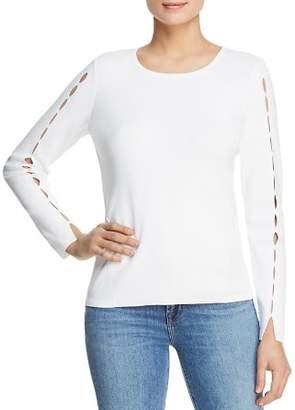 Donna Karan Slit Sleeve Sweater
