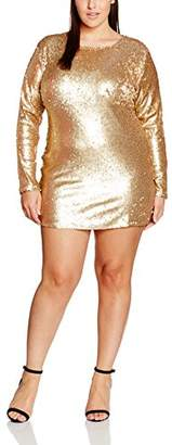 boohoo Plus Women's All Over Sequin Dress