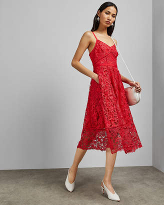 Ted Baker VALENS Mixed lace midi dress