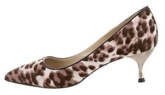 Marc Jacobs Pointed-Toe Ponyhair Pumps