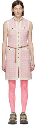 Gucci Pink Tweed Dress