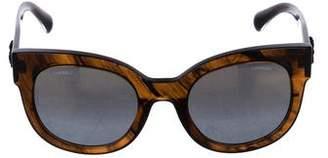 Chanel Reflective Cat-Eye Sunglasses