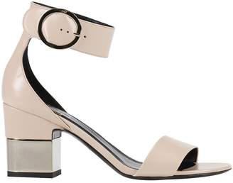 Roger Vivier Heeled Sandals Podium Sandal With Chunky Semi-mirrored 7 Cm Heel