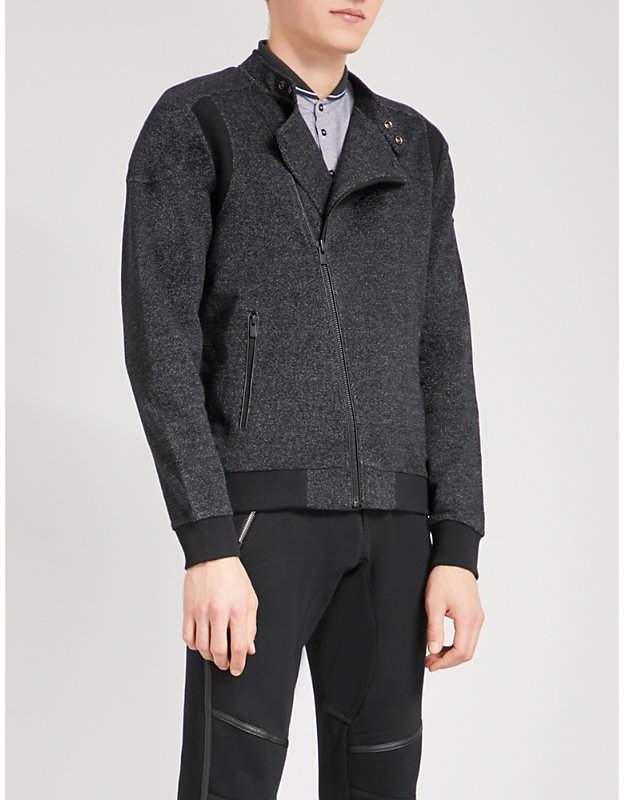 The Kooples Contrast-panel cotton jacket