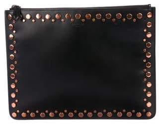 Givenchy Leather Studded Zip Pouch