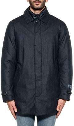 Woolrich Blue Wool Coat