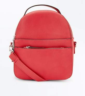New Look Red Convertible Strap Micro Backpack