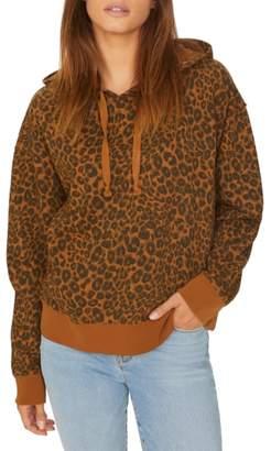 Sanctuary Venice Leopard Print Hoodie