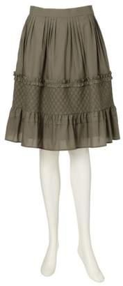 To Be Chic (トゥー ビー シック) - トゥー ビー シック シャーリング刺繍スカート