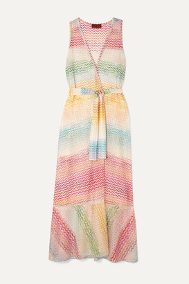 Missoni Crochet-knit Wrap Dress - Pink