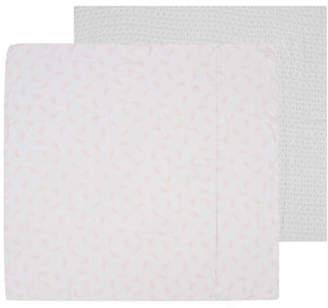 Petit Lem Two-Pack Bunny Swaddle Blankets