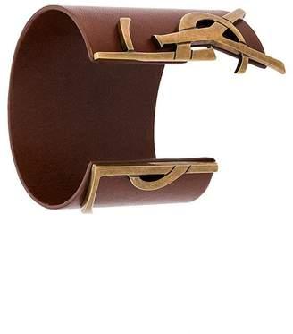 Saint Laurent logo embellished bracelet
