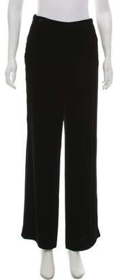 Calvin Klein Collection Velvet Mid-Rise Wide-Leg Pants
