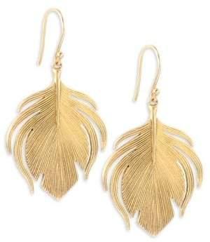 Annette Ferdinandsen Fauna 14K Yellow Gold Small Peacock Earrings