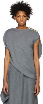 J.W.Anderson Grey Circle Knit Top