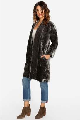 Johnny Was Quilted Velvet Coat
