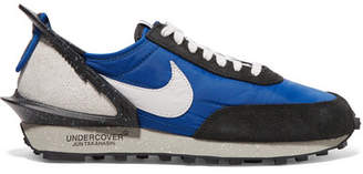 Nike Undercover Daybreak Mesh, Suede And Leather Sneakers - Blue