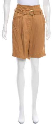Stella McCartney High-Rise Mini Shorts