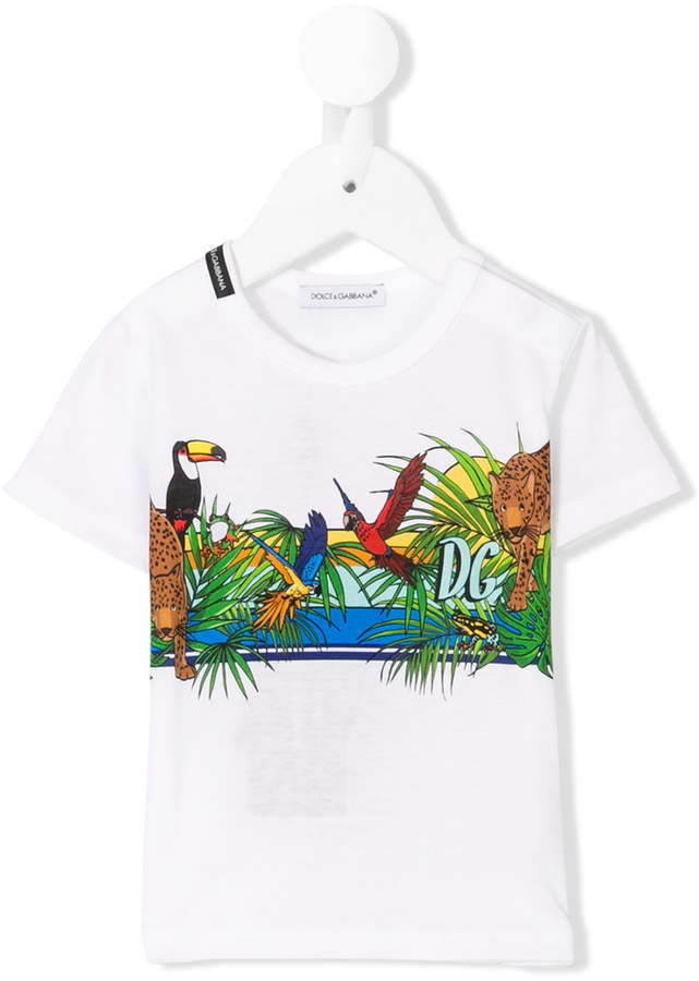 T-Shirt mit Dschungel-Print
