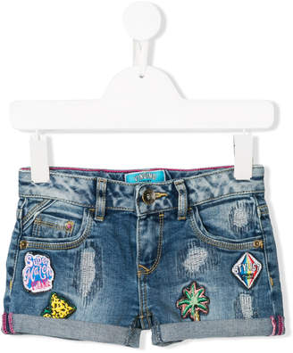 Vingino badge detail denim shorts