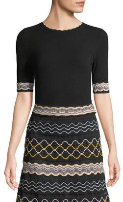 M Missoni Ribbon Wave Stripe Short-Sleeve T-Shirt