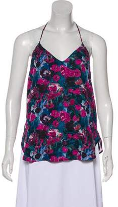 Haute Hippie Floral Print Sleeveless Top