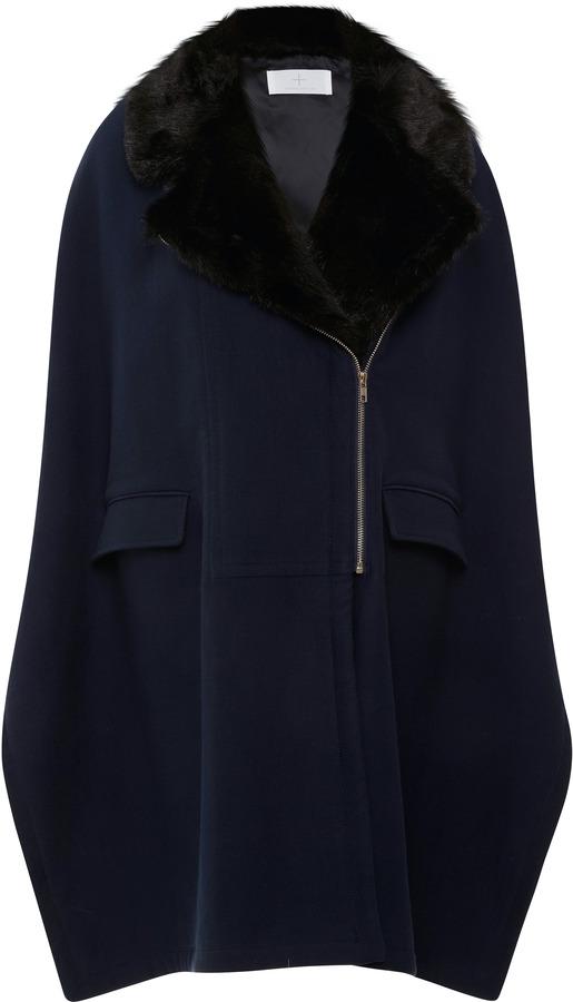 Thakoon Faux Fur-Collared Cape