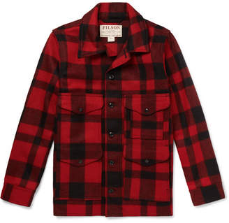 Filson Checked Virgin Wool Overshirt - Red