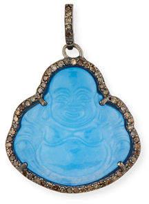 Margo Morrison Jade Buddha Charm w/ Diamonds