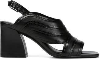 Donald J Pliner WEBB, Nappa Leather and Patent Snake Sandal