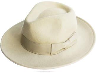 Justine Hats Ivory Felt Fedora Hat