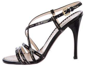 Prada High-Heel Patent Leather Sandals