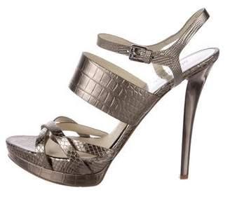 MICHAEL Michael Kors Metallic Multistrap Sandals