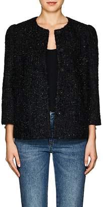 Co Women's Metallic Tweed Collarless Jacket