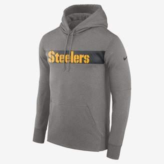 Nike Dri-FIT Therma (NFL Steelers) Men's Pullover Hoodie