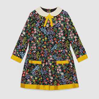 Gucci Children's floral print silk dress