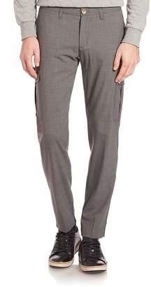 Eleventy Men's Stretch Flannel Cargo Pants