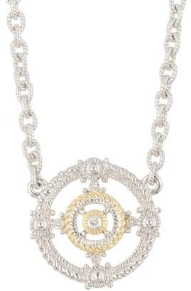 Judith Ripka Two-Tone La Petite Circle Station Necklace