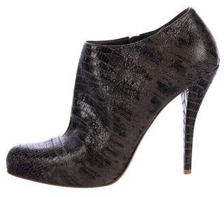 Christian Dior Embossed Leather Booties