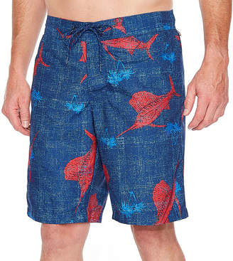 ST. JOHN'S BAY Swordfish Print Pattern Swim Shorts
