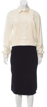 Bottega Veneta Pearl-Accented Midi Dress w/ Tags