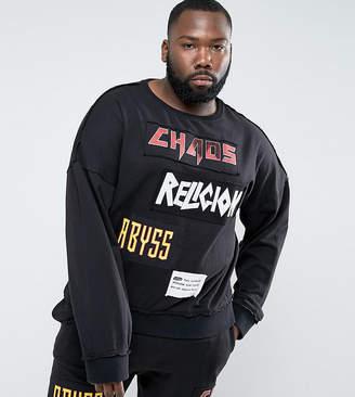 Religion PLUS Sweatshirt With Patches