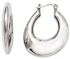 Steel by Design Stainless Steel Teardrop Hoop Earrings
