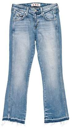 Amo Distressed Mid-Rise Jeans